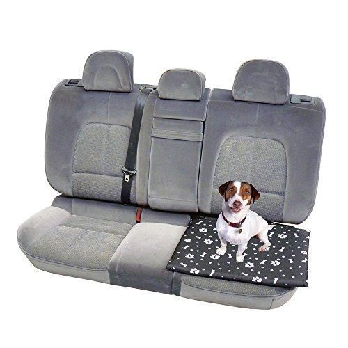 coussin confort de voiture pour chien en toile polyester