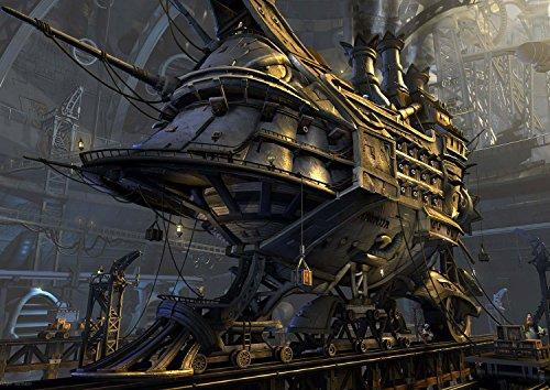 Wall Calendar 2021 [12 pages 8'x11'] Steampunk Vintage Heavy Machines War SciFi