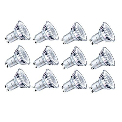 Philips LED Classic 3.5W GU10Glas LED Spot Licht, Warm Weiß (Ersatz für 35W halogen Spot) –, 12Stück, GU10, 3,5Watt, 12Stück