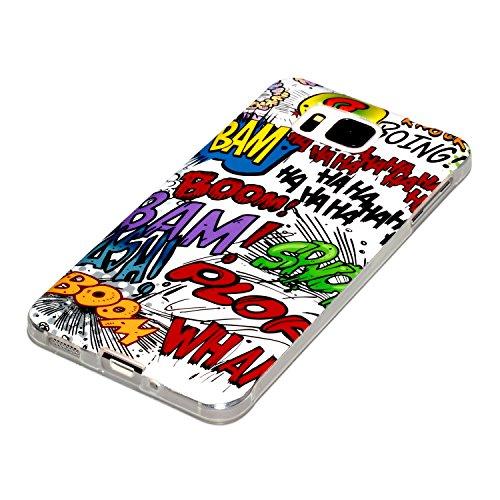 deinPhone - Cover in Silicone per Samsung Galaxy Alpha, Motivo: Comic Boom