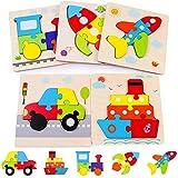 Rolimate Puzzles de Madera Juguetes Bebes, De Madera Rompecabezas Set Montessori...