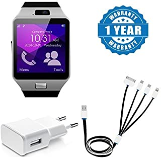 6b29e7539a7c3b Drumstone Dz09 Bluetooth Smartwatch with Camera, 4-in-1 Multi Charging  Cable and