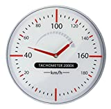 Reloj De Pared–Tacómetro de cristal Taller Reloj Auto Taller Cristal Reloj