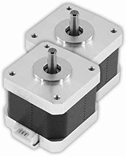 Unique India 2 Pcs Nema 17 4 Kg-cm Bipolar Stepper Motor 10mm shaft For CNC Robotics DIY Projects 3D Printer