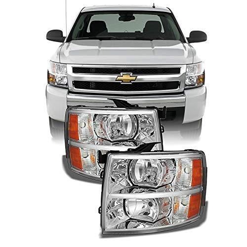 For 2007-2013 2014 Chevy Silverado Replacement Headlights Driver/Passenger Head Lamps Pair New