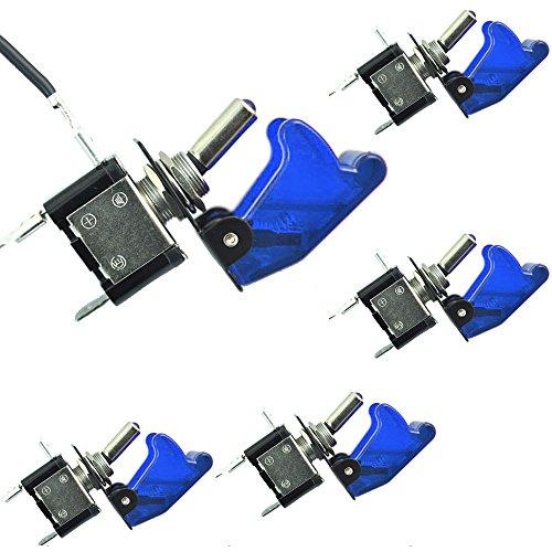 Mintice 5 X Auto Motore 12V 20A Blu Coprire Luce LED Blu Interruttore a levetta