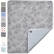 Gorilla Grip Premium Ironing Pad, Machine Washable, Magnetic Laundry Pad, 28 x 24 Inch, Heat and Scorch Resistant, Iron Board Mat for Table Top, Washer, Dryer, Durable Pads for Travel, Gray Floral
