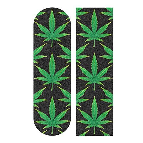 MNSRUU Skateboard Grip Tape Cannabis Griptape Schleifpapier für Roller Rollerboard, 22,9 x 83,1 cm
