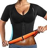 Sauna Sweat Vest Donna Perdita di Peso Neoprene Dimagrante Corpo Caldo Allenatore Vita Con Cerniera