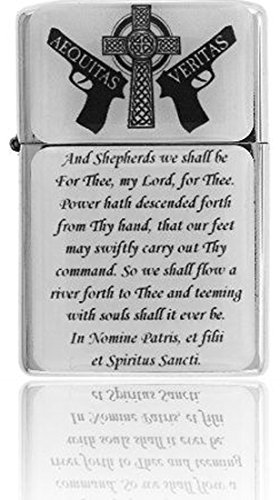 Gifts Infinity Boondocks Saints Prayer Crystal Coated Chrome Finish Wind Proof Oil Lighter