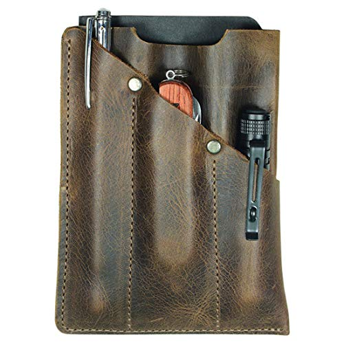 Hide amp Drink Rustic Durable Leather Multitool Pocket Pouch Classic Multipurpose Bag Compact Organizer Camping Accessories Everyday Carry Handmade Includes 101 Year Warranty :: Bourbon Brown