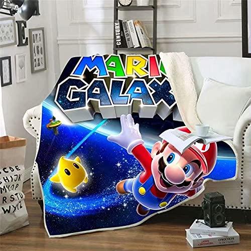 Manta para bebé de la Serie Super Mary Mario, Manta para niños, Manta de Franela, Manta Doble, Funda de cojín, Manta