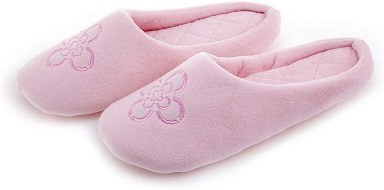 Nafanio Floral Indoor Slippers Home Winter Women Furry Design Fluffy Flowers Pink Ladies House Adult shoes