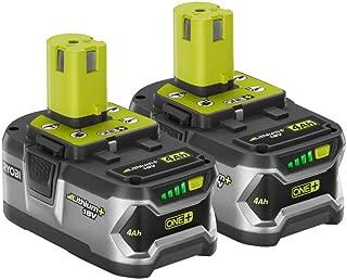 Ryobi P122 4AH One+ High Capacity Lithium Ion Batteries For Ryobi Power Tools (2 Pack of P108 Batteries) (Renewed)