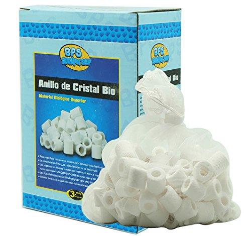 BPS (R) Anelli di ceramica Filtro Anelli di vetro Bio Filtro Acquario depuratore 3 * 150 g BPS-6640