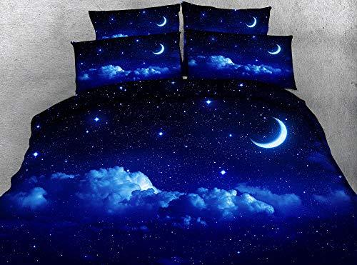 Noche Estrellada (Funda nórdica + Funda de Almohada) Ropa de Cama para Adultos Ropa de Cama Juegos de Cama 220cm x 230cm