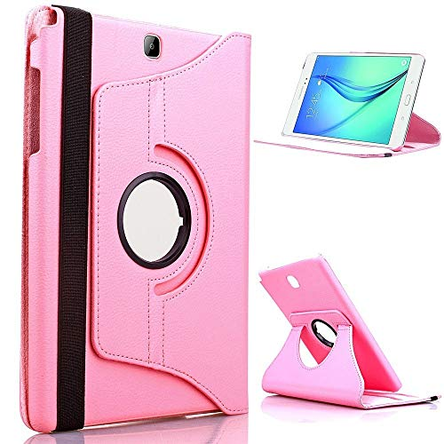 RZL Pad y Tab Fundas para Samsung Galaxy Tab S2 9.7 T810 T813 T815, Flip Tablet Funda 360 Soporte de rotación para Samsung S2 9.7 T810 360 (Color : Pink)