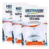 Heitmann Wäsche-Weiss Tücher 20er, 3er Pack (3 x 20 Stück)