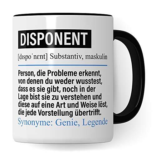 Pagma Druck Tasse Disponent lustig, Beruf Disponent Geschenk, Spruch Disposition Kaffeebecher Geschenkidee, Kaffeetasse Beruf Teetasse Becher