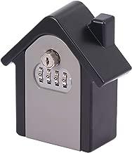 SAFETYON Caja Fuerte para Llaves Oculta Caja de Almacenamiento para Esconder Llaves en Forma de Piedra Ocultar Llaves en Jard/ín Fuera de Casa 6x8x3cm