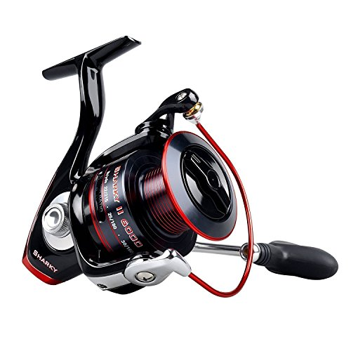 KastKing Sharky II Fishing Reel - Smooth Spinning Reel - 41.5 Lb Carbon Fiber Max Drag - 10+1 Superior Ball Bearings – Brass Gears - Top Quality at An Affordable Price!