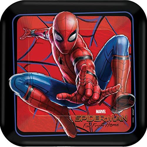 Spiderman - ver van huis 9: vierkante borden, 8 per pak