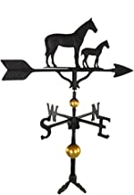 product image for Montague Metal Products 32-Inch Deluxe Weathervane with Satin Black Mare and Colt Ornament