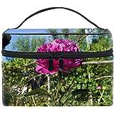 化粧ポーチ メイク収納 中身が見やすい花花植物花びら 持ち運び用 小物入れ