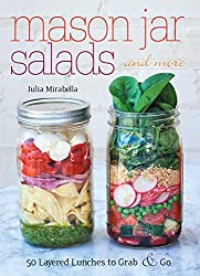 Mason jar meals is the perfect take away food. Book cover of inspirational recipes here.