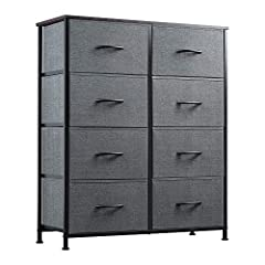 Multifunction Dresser: This chest of drawers is great for bedrooms, nurseries, playrooms, entryways and matches perfectly with other WLIVE storage towers. Sufficient Storage Space: WLIVE storage drawers with 8 foldable fabric drawers, ideal for organ...