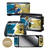 Controller Gear Nintendo Switch Skin & Screen Protector Set - The Legend of Zelda: Breath of The Wild - 'Link Vs' - Nintendo Switch