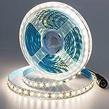 JOYLIT 24V Natural White LED Strip Lights 16.4ft, 2835SMD 600 LEDs 3000lm Bright White 4000K LED Tape Lighting for Kitchen Under Cabinet Counter Shelf