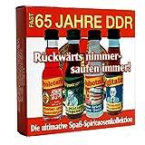 64 Jahre DDR Spirituosen 4Pack - nostalgische DDR Kultprodukte - Ossi Produkte
