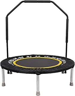 MULTIMILE Mini Trampoline with Handle Bar, Max Load 330lbs Rebounders Trampoline for Kids and Adults Indoor Cardio Workout Training - Quiet and Safe (40 Inch)
