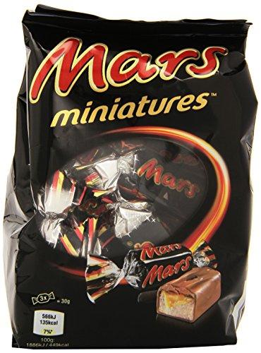 Mars Miniatures Cioccolato al Latte Ripieno con Caramella Mou e Malto - 130 g