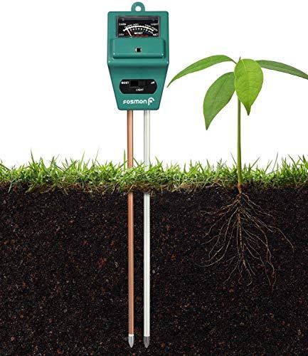 Great Features Of REARAND 3-in-1 Soil Tester, Moisture, Light, PH Soil Test Kit Soil PH Meter for Ga...