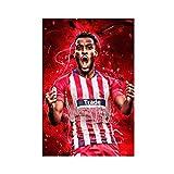 Super Star Soccer Player Thomas Lemar - Póster de lona para pared (30 x 45 cm)