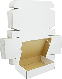 SLPLXL Small Shipping Boxes 7x5x2 inchs,White Corrugated Cardboard Mailer Box Pack of 25