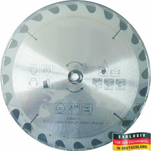 Masterproof Lame de scie circulaire 300 mm, 24 dents pour travail du bois trempé spécial avec scie circulaire de table