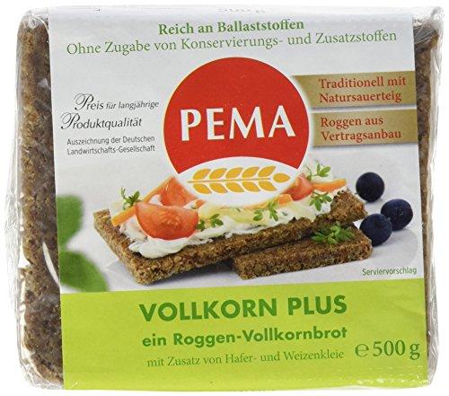 PEMA Vollkorn Plus 6x500g, Roggenvollkornbrot mit Zusatz von Hafer- und Weizenkleie, 1er Pack (1 x 3000 g)
