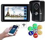 ZGYQGOO Door Viewer Night Vision Video Timbre, Timbre inalámbrico bidireccional 1024 * 600 IR Night...