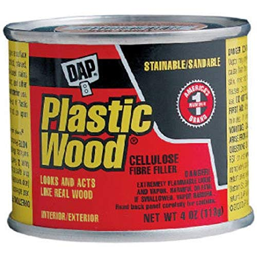 DAP 7079821412, White, 21412 Plastic Ready to Use Solvent Wood Filler, 1/4-Pint, 4 oz