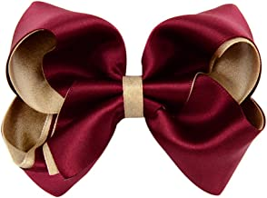 BIGBOBA Glitter Polyester Double Belt Big Bow Hair Clip Hair Accessories Small Women Ladies Girls
