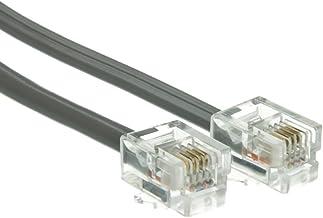 Sponsored Ad - ACCL 25ft RJ11 6P/4C Straight Telephone Cord (Data), Modular Plug, Silver Satin, 4pk photo