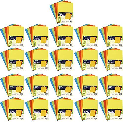 D.RECT kopieerpapier kleurrijke A4 mix van 5 kleuren met elk 20 vellen x 25 verpakkingen