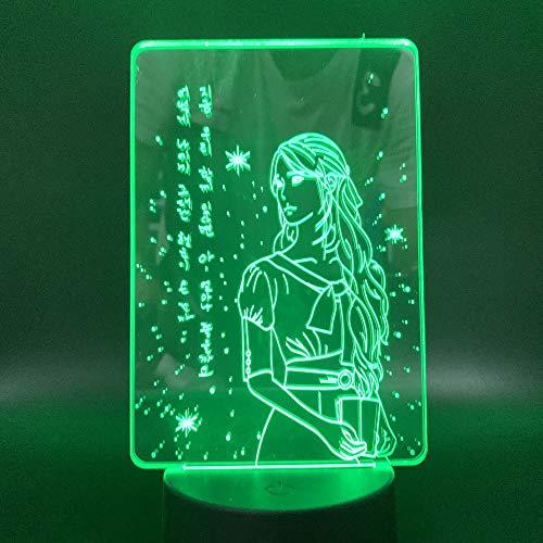 Nur 1 Stück 3D Lampe Pretty Girl Nachtlicht Geschenk Indoor Schöne Lampe Touch Sensor Nachtlichter Led Nachtlicht für Kinder