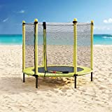 Pure Fun 36-inch Kids Bungee Trampoline with Handrail, Ages 3 to 7,...