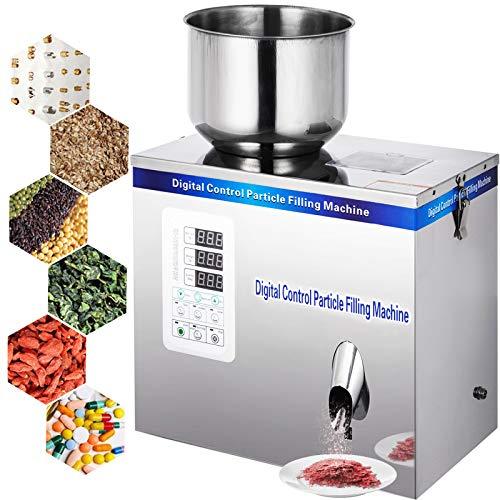 VEVOR 25g Pulverfüllmaschine 180W Powder Filling Machine Edelstahl Puderteilchen Subpackage Food Filling Machine Trichter Automatisch