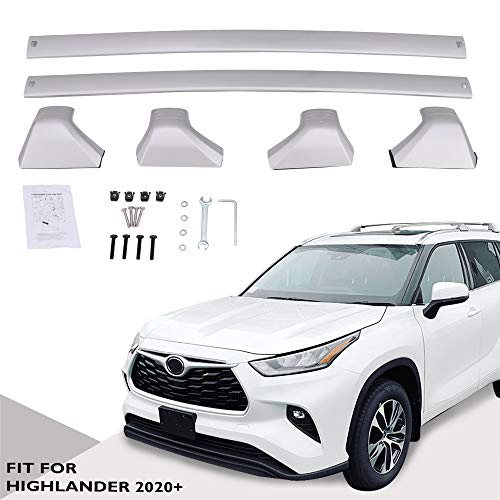 Snailfly Silver Cross Bars Roof Racks Fit for 2020 2021 Toyota Highlander XLE & Limited & Platinum (Models with Side Rails)