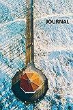 Journal: Beach Aerial photography Elegant Bullet Journal Dot Grid Daily Planner Student for...